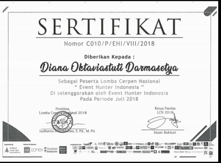 DIANA OKTAVIASTUTI DARMASETYA_PESERTA LOMBA CERPEN NASIONAL EVENT HUNTER INDONESIA