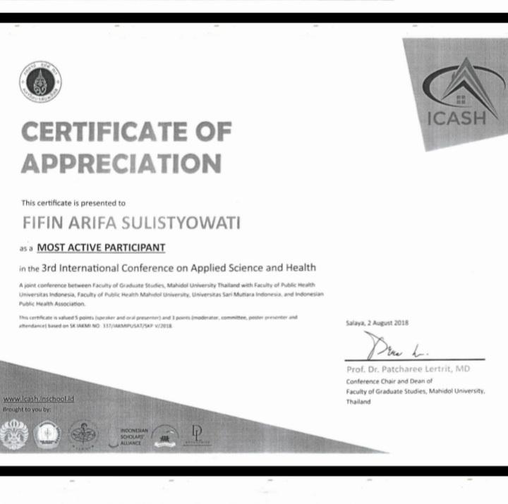 FIFIN ARIFA SULISTYOWATI_MOST ACTIVE PARTICIPANT
