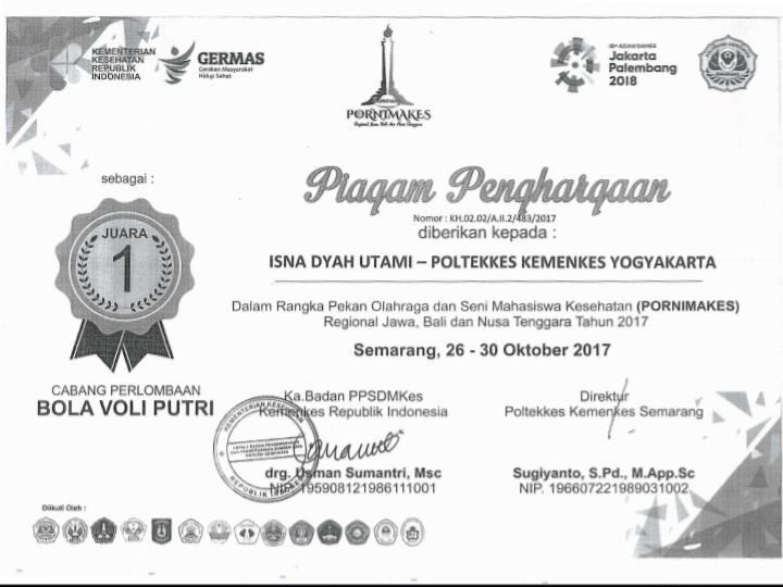ISNA DYAH UTAMI_JUARA 1 PORNIMAKES II Se Jawa, Bali, Nusa Tenggara