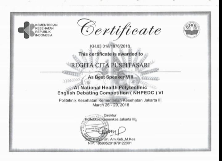 REGITA CITA PUSPITASARI_AS BEST SPEAKER VIII